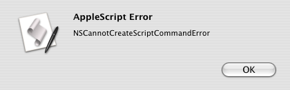 AppleScript Runtime error