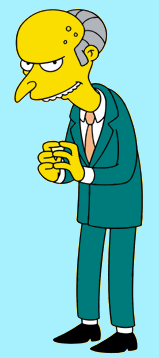 Picture of Montgomery Burns, from the Simpsons TV show