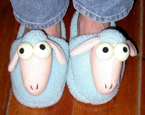 Sheep in the Big City Slippers